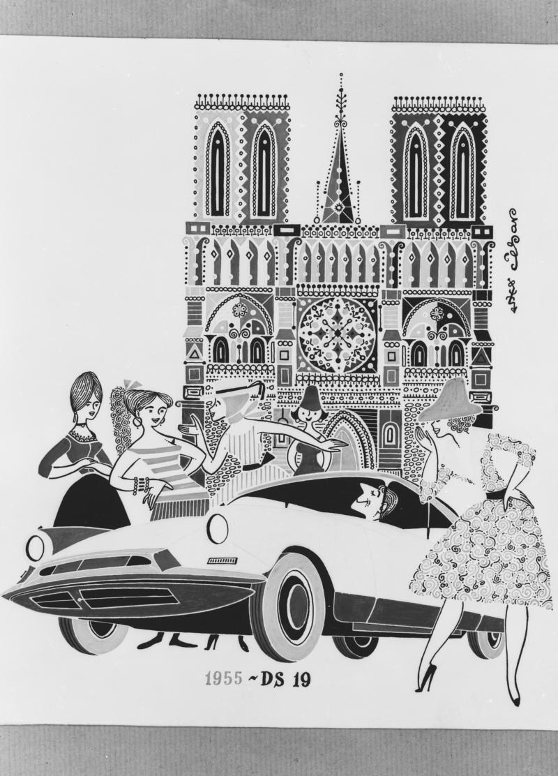 Advertising for DS 19 - Paris - 1955