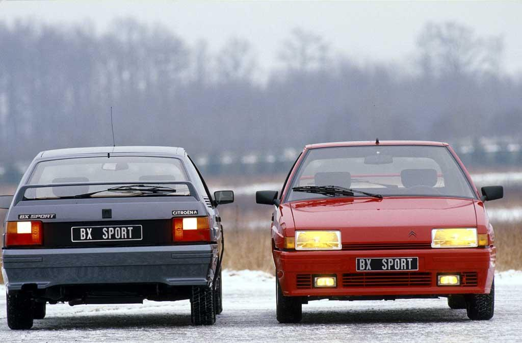 BX Sport 1985 rear and front